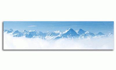 Картина панорама снежного хребта