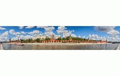 Картина панорамный вид-кремль с софийской набережной