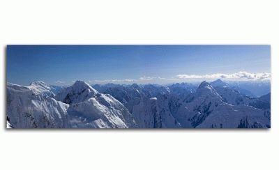 Картина панорамный вид на центральныйтянь-шань