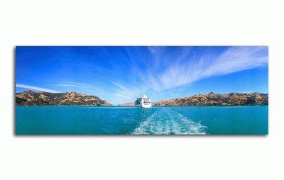 Картина панорамный вид на корабль