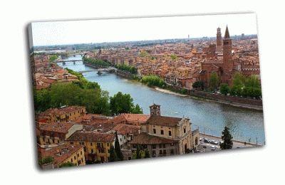 Картина панорамный вид на верону италия