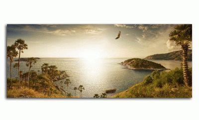 Картина панорамный вид тропического острова