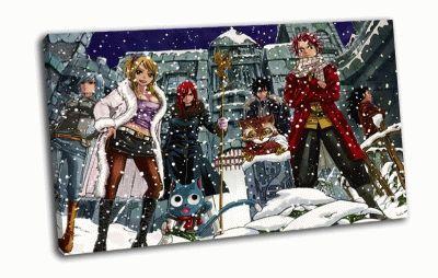Картина парни, девушки, снег