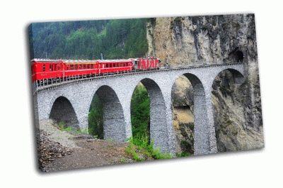 Картина пассажирский поезд