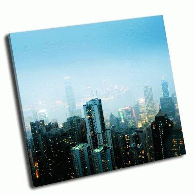 Картина пейзаж современного города