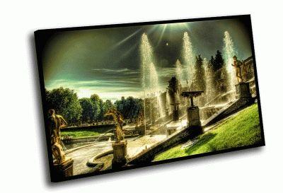 Картина петродворец, фонтаны