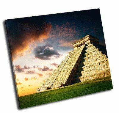 Картина пирамиды майя