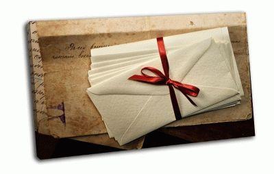 Картина письма с ленточкой