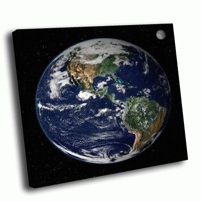 Картина планета земля - вид с космоса