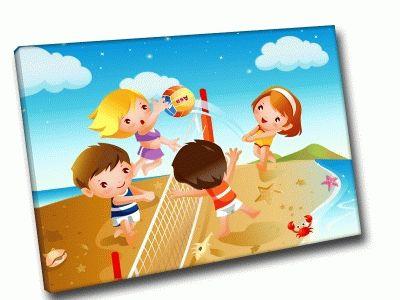 Картина пляжный волейбол