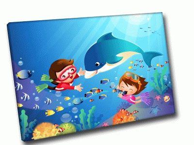 Картина под водой с дельфином