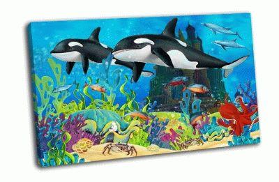 Картина подводный замок