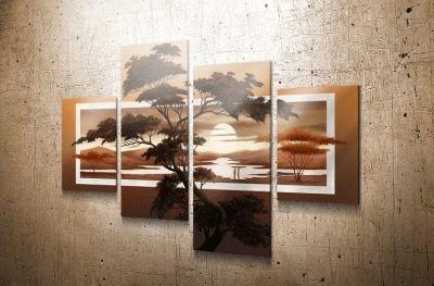 Картина полиптих дерево