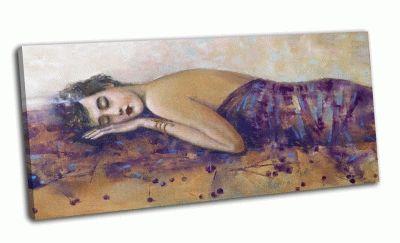 Картина портрет девушки с открытой спиной