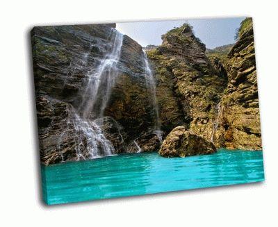 Картина прекрасный водопад в лушан