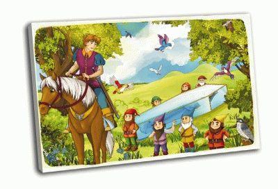 Картина принц и гномы