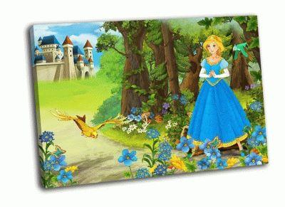 Картина принцесса и замок
