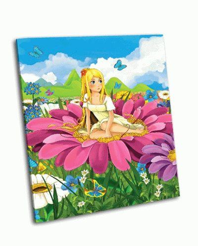 Картина принцесса на цветке