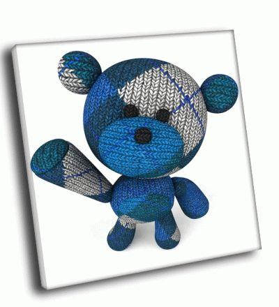 Картина привет от вязанного мишки