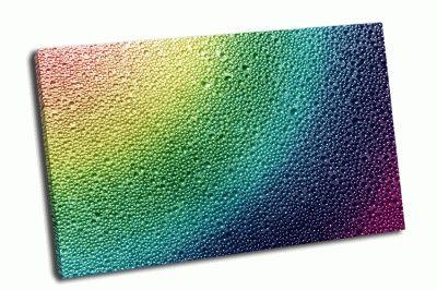 Картина радуга капельками