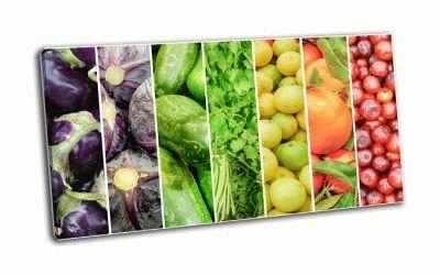 Картина радужные фрукты и овощи