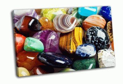 Картина различные камни минералы