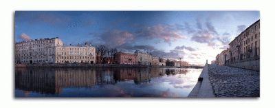 Картина реки фонтанки