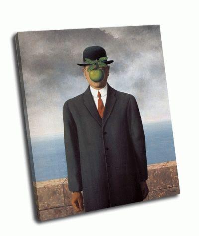 Картина рене магритт - сын человеческий