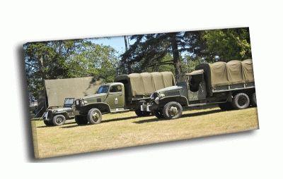 Картина ретро армейские грузовики