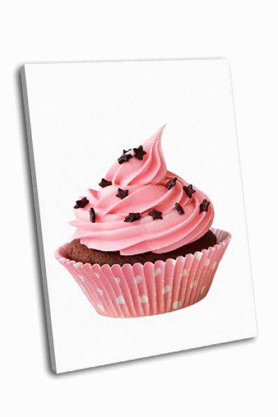 Картина розоый кекс