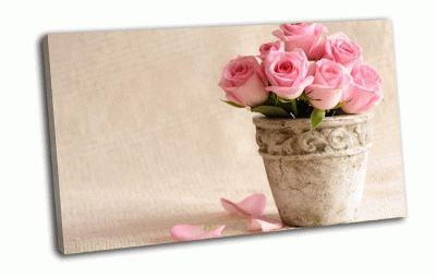 Картина розы в горшочке
