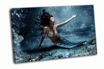 Картина русалка под водой