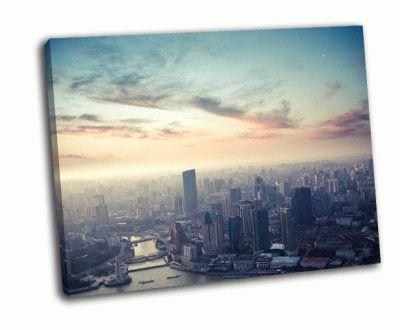 Картина с высоты птичьего полета из шанхая