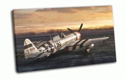 Картина самолет на аэродроме
