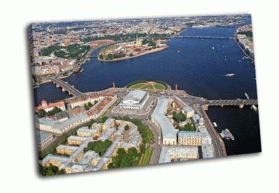 Картина санкт-петербург с птичьего полета