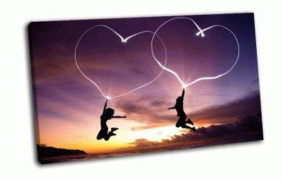 Картина сердца в небе