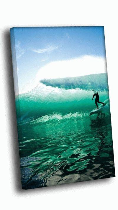 Картина серфер на волне