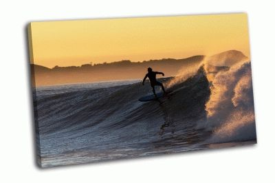 Картина серфинг на рассвете