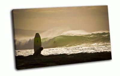 Картина серфинг на закате