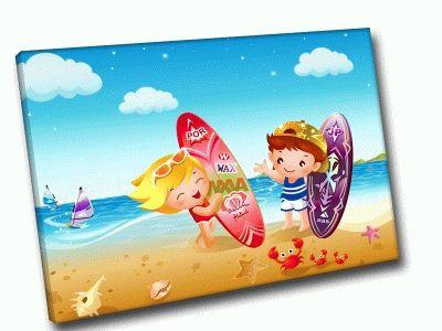Картина серфинг вдвоем