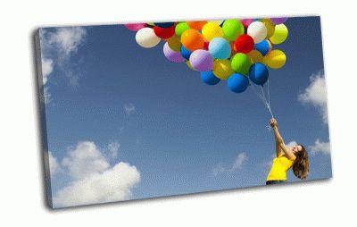 Картина шарики в небе