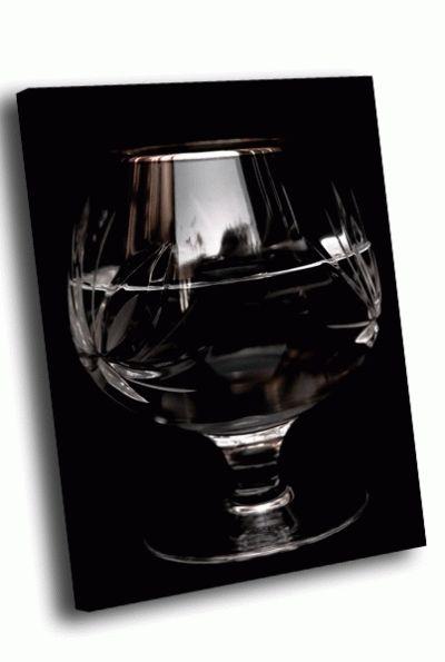 Картина широкий бокал на черном