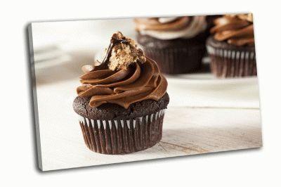 Картина шоколадный кекс с шоколадной глазурю