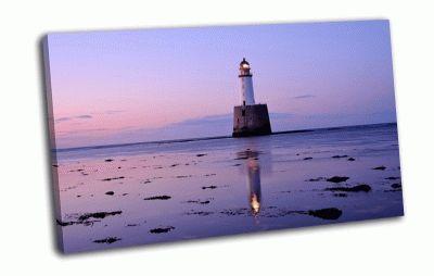 Картина сиреневый вечер, шотландия