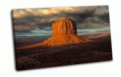 Картина скала в пустыне