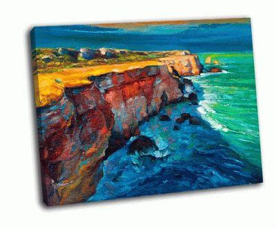 Картина скалы и океан