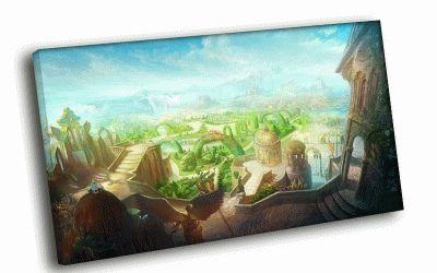 Картина сказочный город