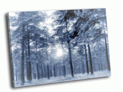 Картина сказочный зимний лес