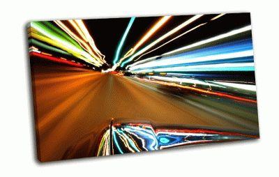 Картина скорость, огни