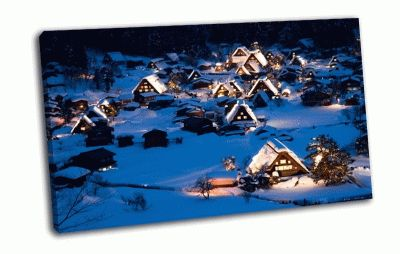 Картина снежная зима